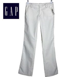 GAP Women's White Brushed Cotton LowRise Jeans NWT